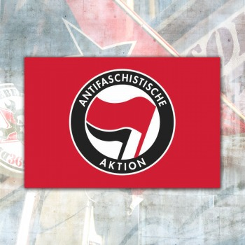 Antifa Flag red